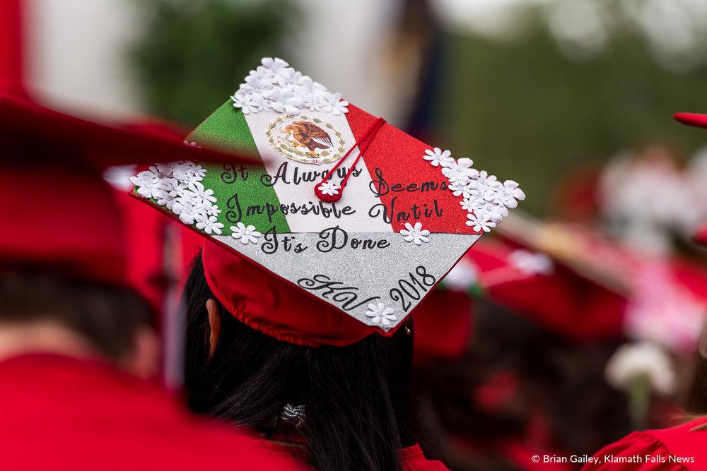 Klamath Union High School Graduation, Class of 2018. June 9, 2018 (Brian Gailey).