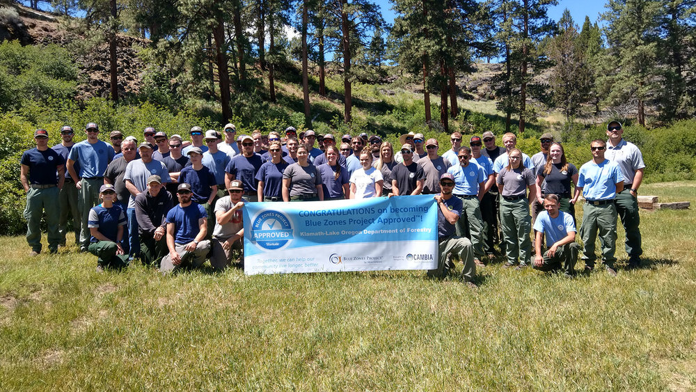 Oregon Department of Forestry's Klamath-Lake District is a Blue Zones Project Approved Worksite (Submitted Photo)