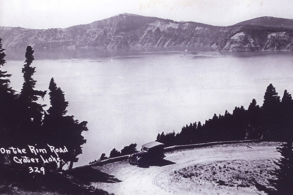 A scenic overlook on the old rim road at Crater Lake – closed since 1938 – is among the spots to be visited during a history hike Saturday, Aug. 18.