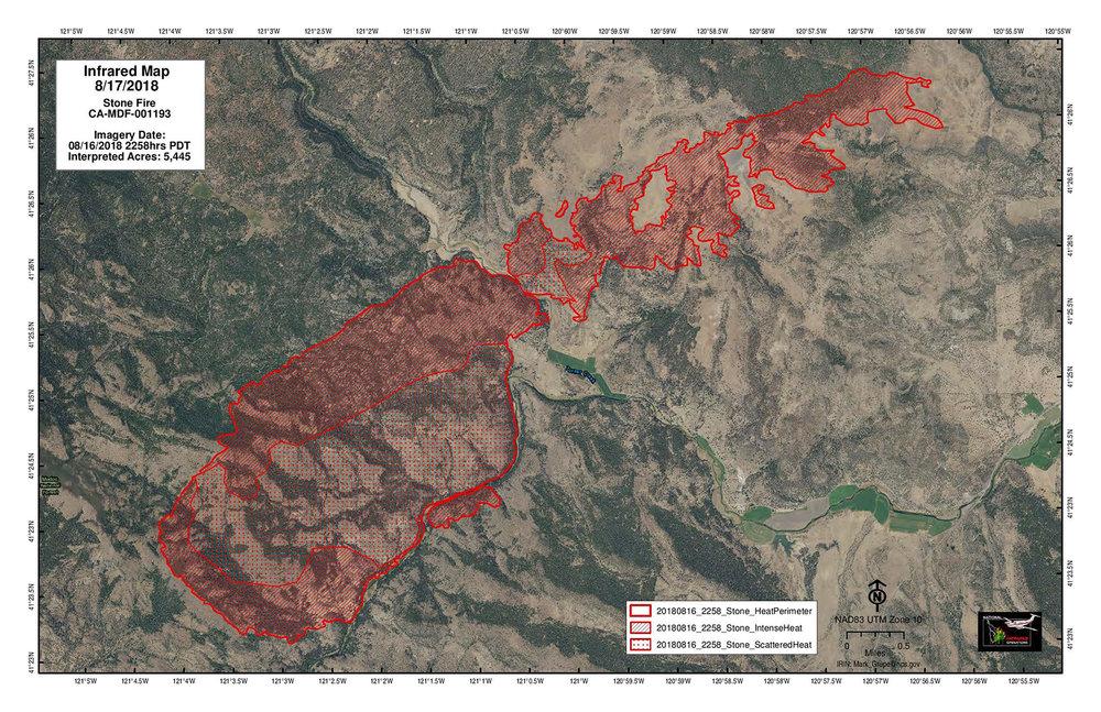 Klamath Falls News — Wildfire Update: Stone Fire 8/17/18 AM