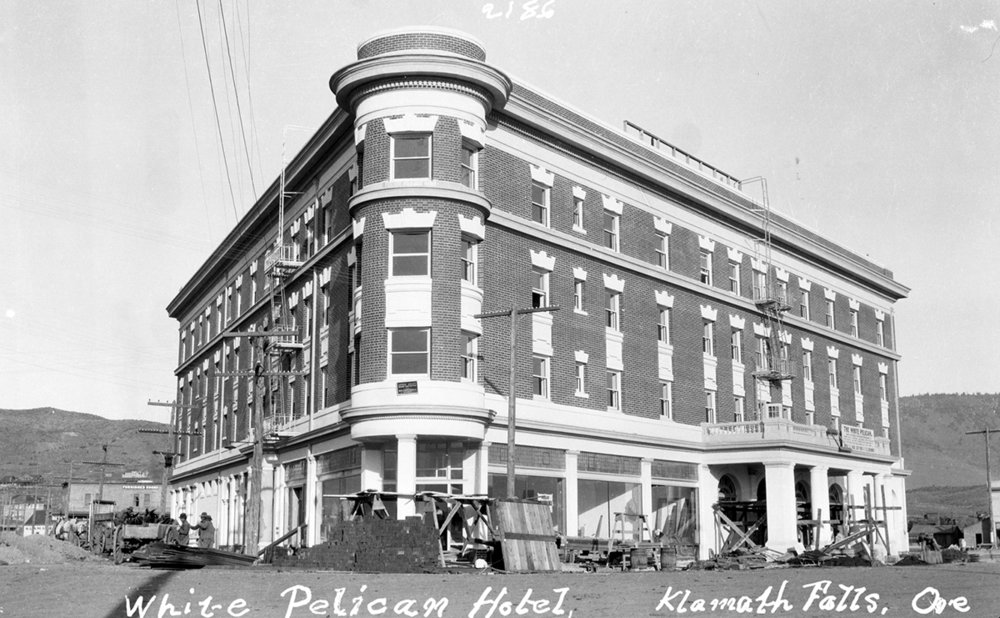 The White Pelican Hotel is shown in this photo taken by Maud Baldwin. The image is one of several that will be displayed Saturday at the Baldwin Hotel Museum. (Submitted Photo)