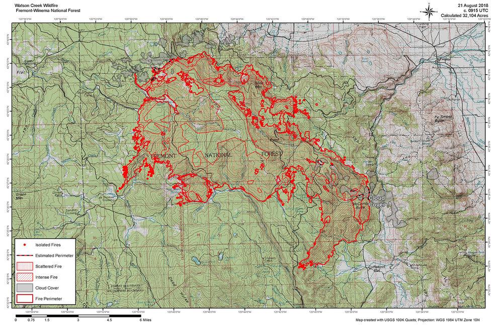 Klamath Falls News Wildfire Update Watson Creek Fire 8 21 18