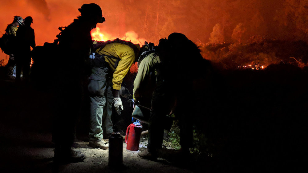 Nigh firing operations on the Stone Fire. (Inciweb)