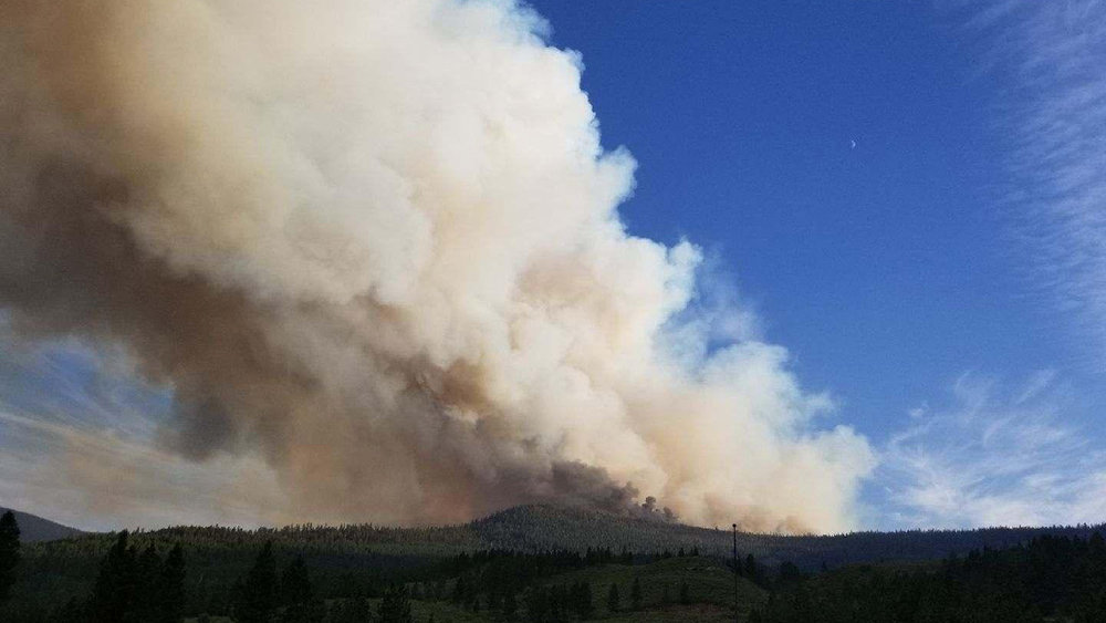 Watson Creek Fire - August 19, 2018. (Jack Thornton, Geltech Solutions / Inciweb)