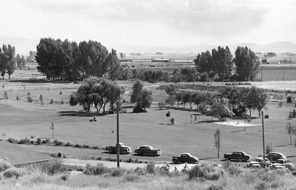 Malin Community Park is seen in this photo from 1949, the year the park was dedicated. A program on the park's history will be presented during Thursday's meeting of the Klamath County Historical Society. (Submitted Photo)