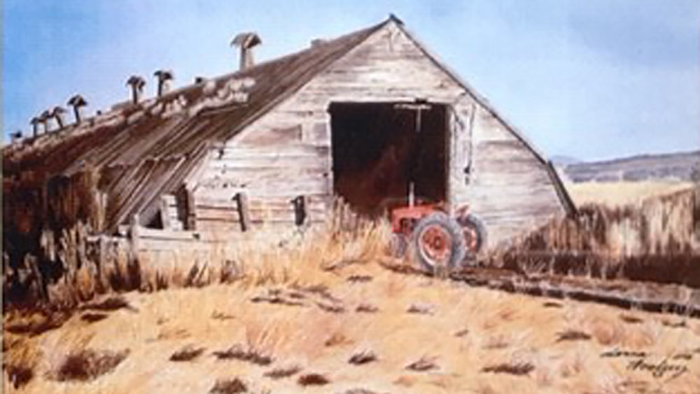 A painting of a potato cellar by Donna Woolery is among the works featured through December in the Klamath County Museum's Modoc Gallery. (Submitted Photo)