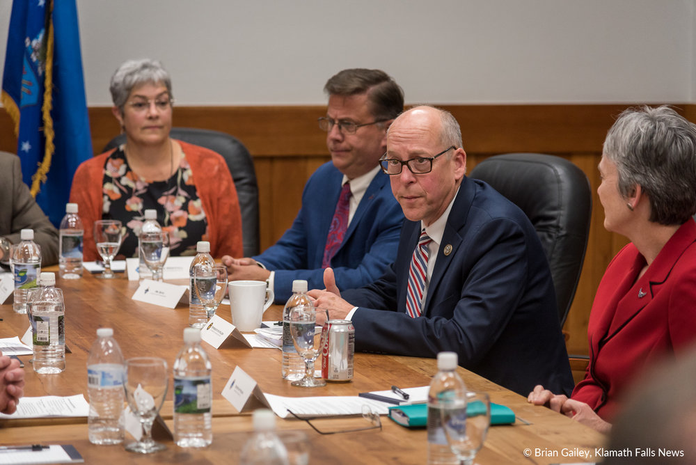 Congressman Greg Walden invited Air Force Secretary to the Klamath Basin to tour Kingsley Field and to chat with Community Leaders. November 3, 2018 (Brian Gailey)