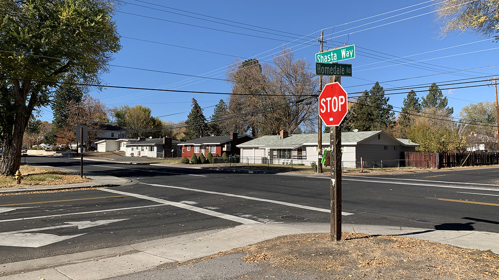 A 4-Way stop is to be installed November 8th at the intersection of Shasta Way and Homdale Road in Klamath Falls. (Brian Gailey)