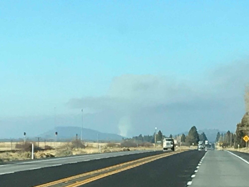 The Agency 2 fire burned 25 acres five miles northwest of Chiloquin, Oregon. (Image submitted by South Central Oregon Fire Management Partnership)