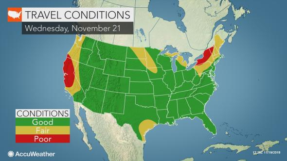 National Thanksgiving Travel Conditions, AccuWeather