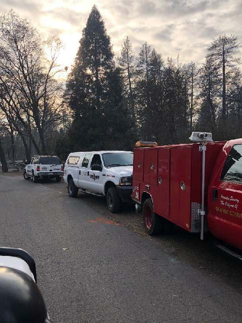 Volunteers from the Klamath County Sheriff's Office Search and Rescue team responded to a call for aid from Butte County, Calif. The volunteers are expected to operate for three days and return home for Thanksgiving. (Submitted Photo)