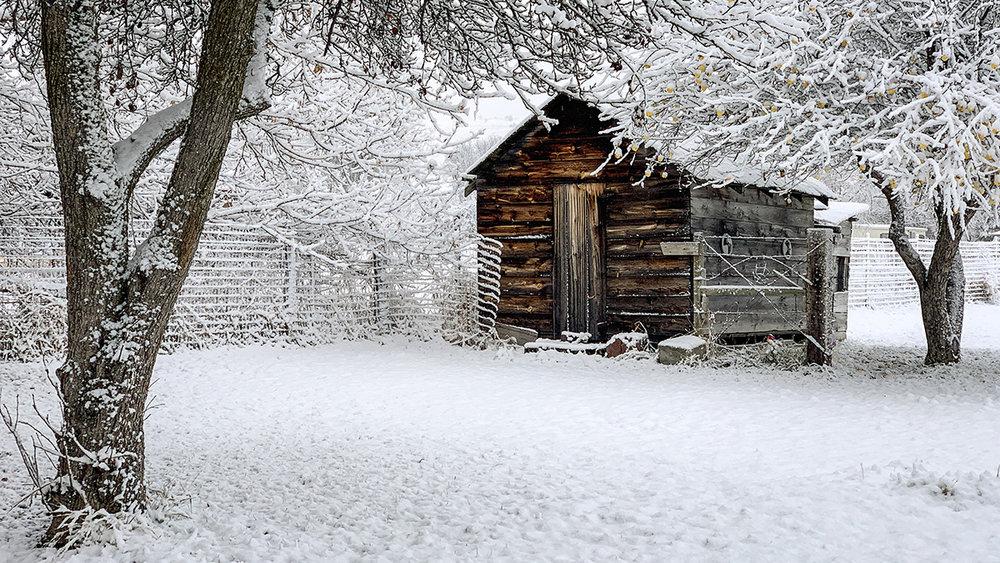 The first snow of the 2018-19 season blankets the Klamath Basin. December 1, 2018 (Brian Gailey)