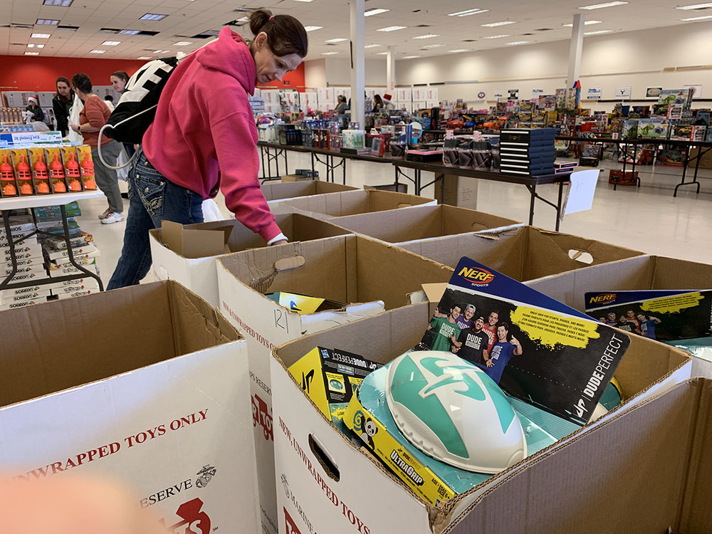 Families are able to receive help with Christmas toys thanks to Toys for Tots. December 21, 2018. (Brian Gailey)