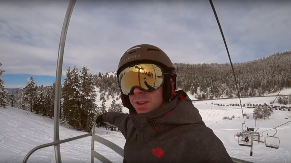 Paul Kenney starts a YouTube Channel to feature and review local ski areas. (Image from Warner Canyon video.)