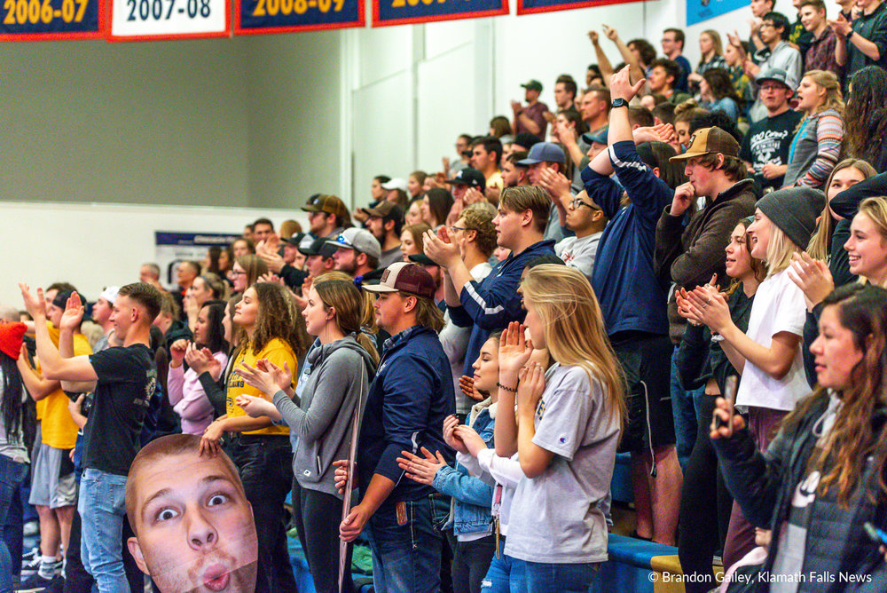 Corban vs Oregon Tech. January 11, 2018. Image by Brandon Gailey for Klamath Falls News