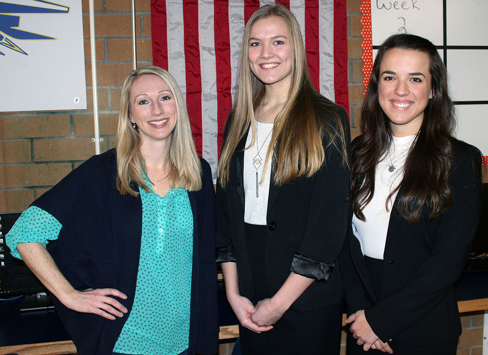 Dr. Kristi Lebkowsky, left, is pictured with Grace Parker and Alyssa Michaelis.