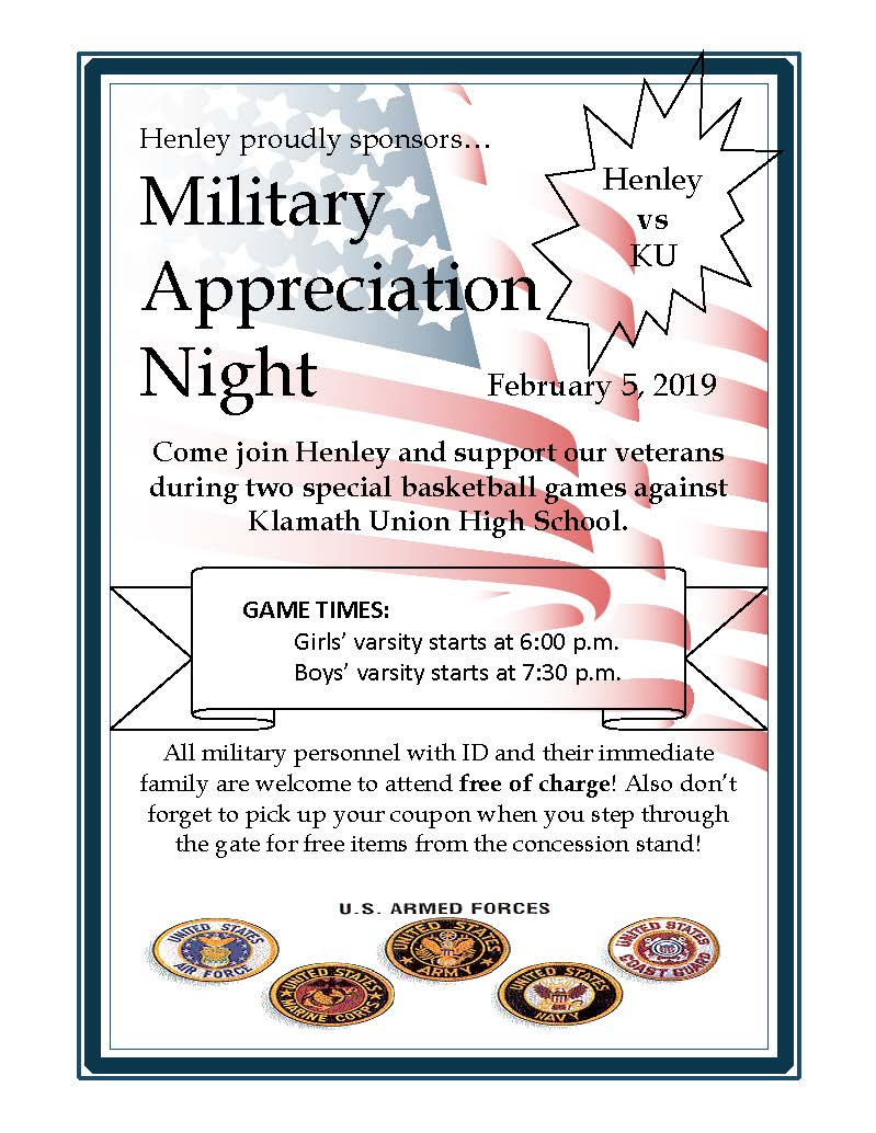 Military Appreciation Night Flyer - Click for larger