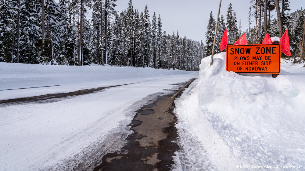 Mid-winter beauty at Crater Lake National Park, Oregon, USA. February 7, 2019 (Image by, Brian Gailey / Klamath Falls News)
