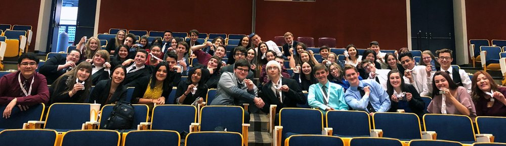 Mazama High School's FBLA team gathers for a group picture during the FBLA Cascade Regional Skills Conference last week at OIT.