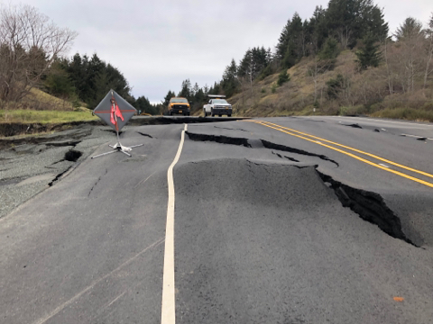 US 101 Closure at MP 344 - North