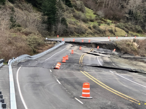US 101 Closure at MP 344 - South
