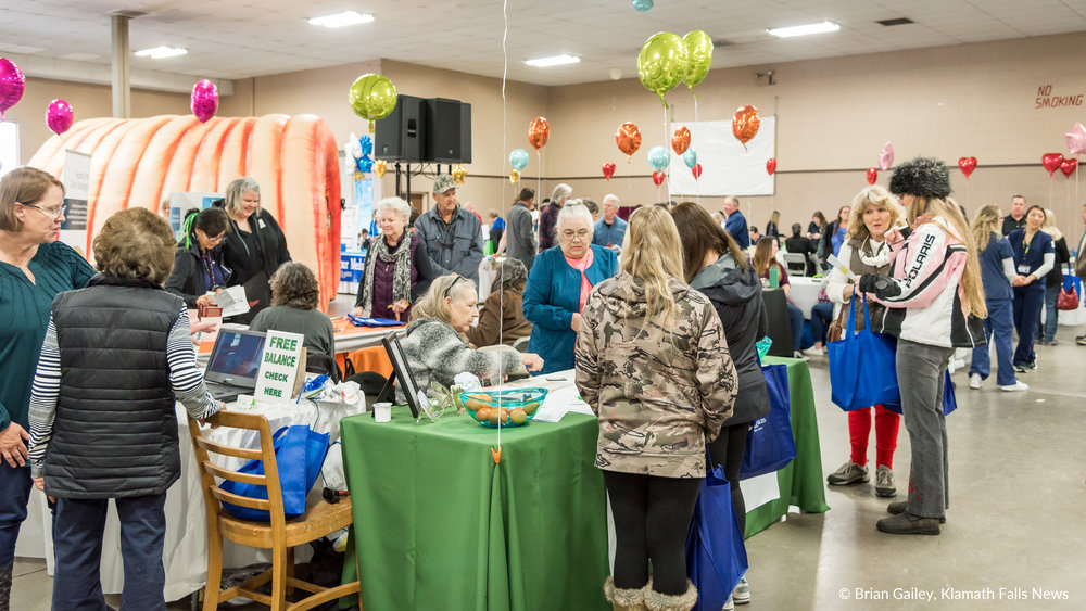 File Photo. 2017 Sky Lakes Health Fair. (Brian Gailey / Klamath Falls News)