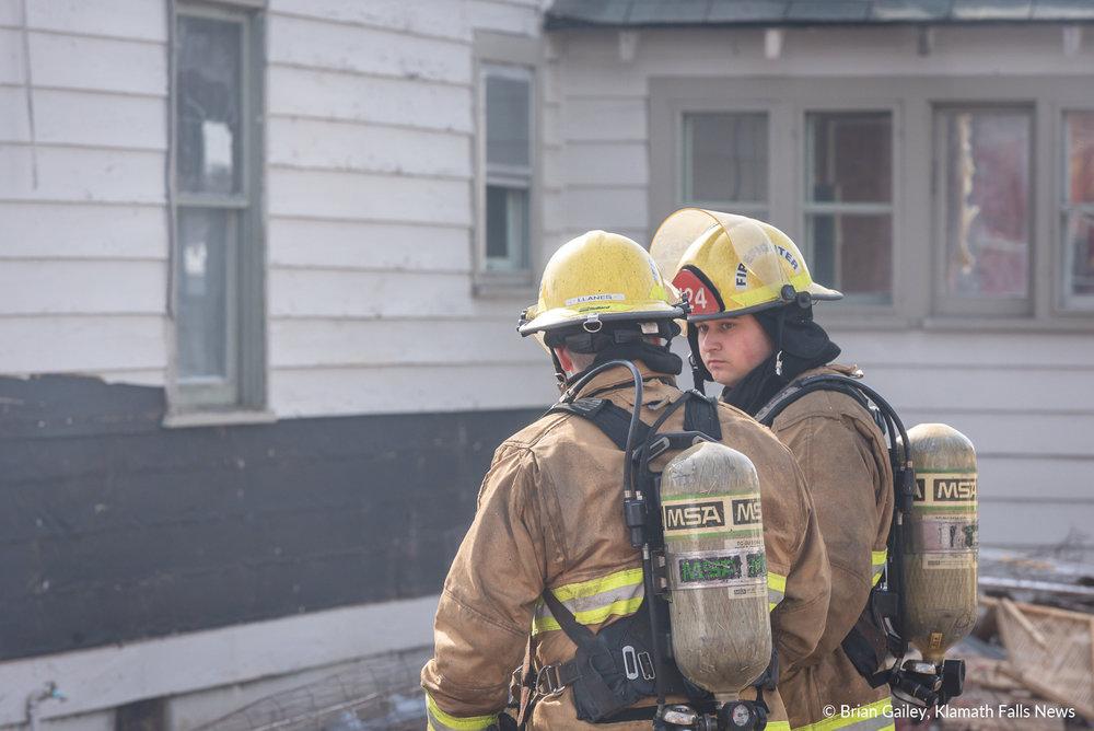 Klamath County Fire District 1, burn to learn training exercise. March 14, 2019. (Brian Gailey / Klamath Falls News)