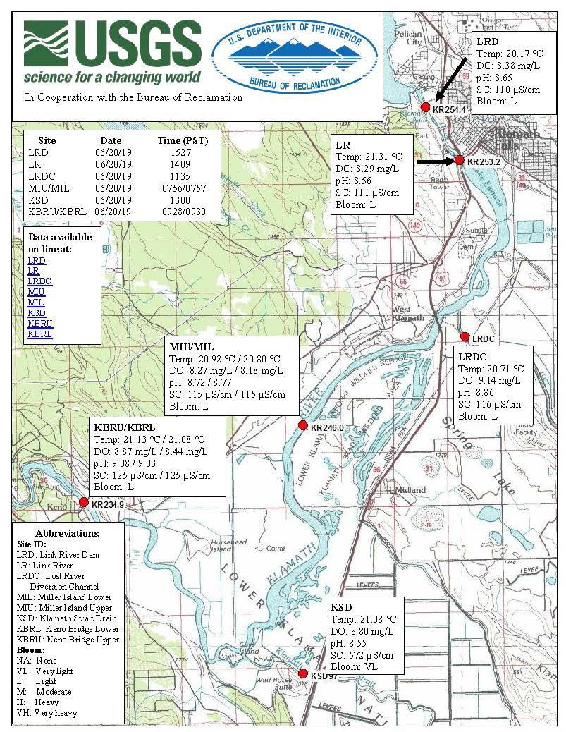 Klamath Falls News — Water Quality Maps for June 21, 2019 on klamath national forest map, klamath marsh map, southern oregon northern california map, klamath county map, lake of the woods map, redwood national and state parks map, oregon rivers map, trinity county map, six rivers national forest map, roosevelt national forest trail map, klamath mountains map, prairie creek redwoods state park map, trinity lake map, lower klamath national wildlife refuge map, klamath lake map, highland map, morgan hill map, humboldt county map, klamath basin map,