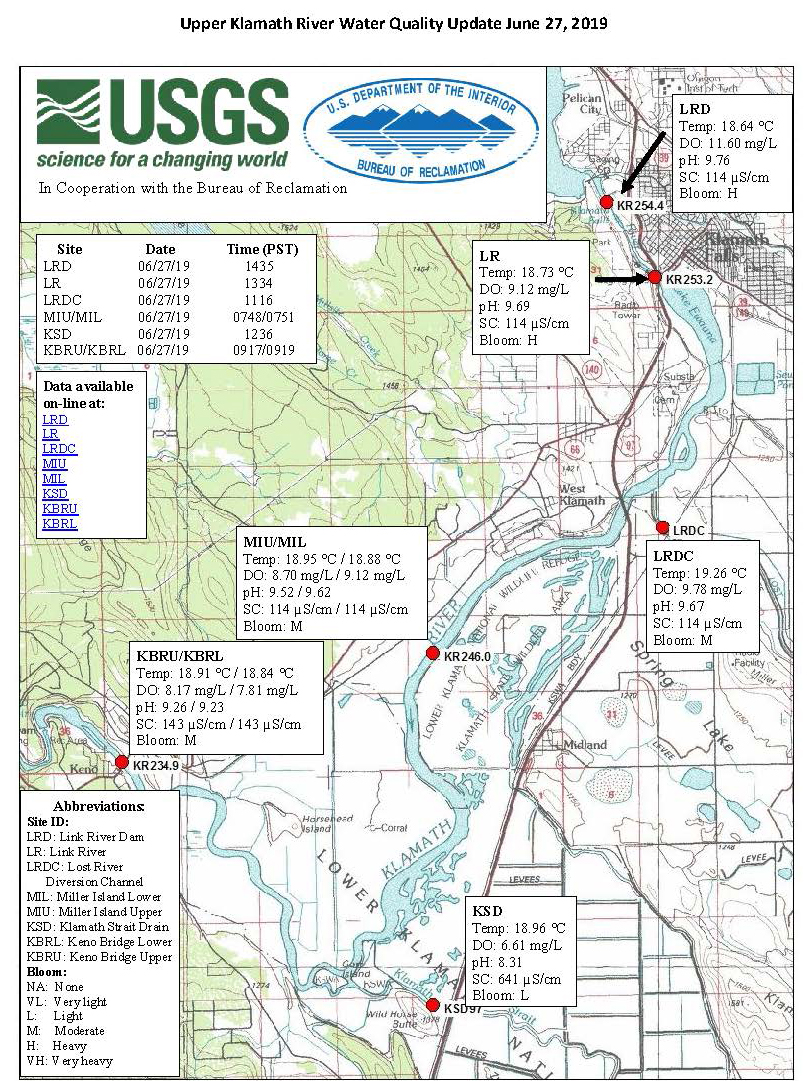 Klamath Falls News — Water Quality Maps for June 28, 2019 on klamath basin map, six rivers national forest map, oregon rivers map, smith river, trinity river, klamath falls, klamath national forest map, humboldt county map, southern oregon northern california map, klamath lake map, columbia river, crescent city, redwood national and state parks map, trinity county map, klamath mountains, lake of the woods map, lake ewauna, sacramento river, trinity lake map, klamath county, klamath mountains map, umpqua river, prairie creek redwoods state park map, lost river, lower klamath national wildlife refuge map, roosevelt national forest trail map, trinity county, sandy river, humboldt county, happy camp, morgan hill map, klamath county map, eel river, rogue river, highland map, klamath marsh map, curry county,