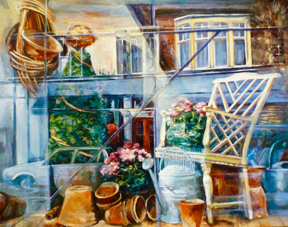 "Mayfair Florist, 24"" x 30"" oil/canvas"