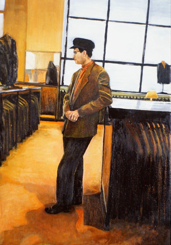 "Martin at Barneys, 34"" x 24"" oil/canvas"