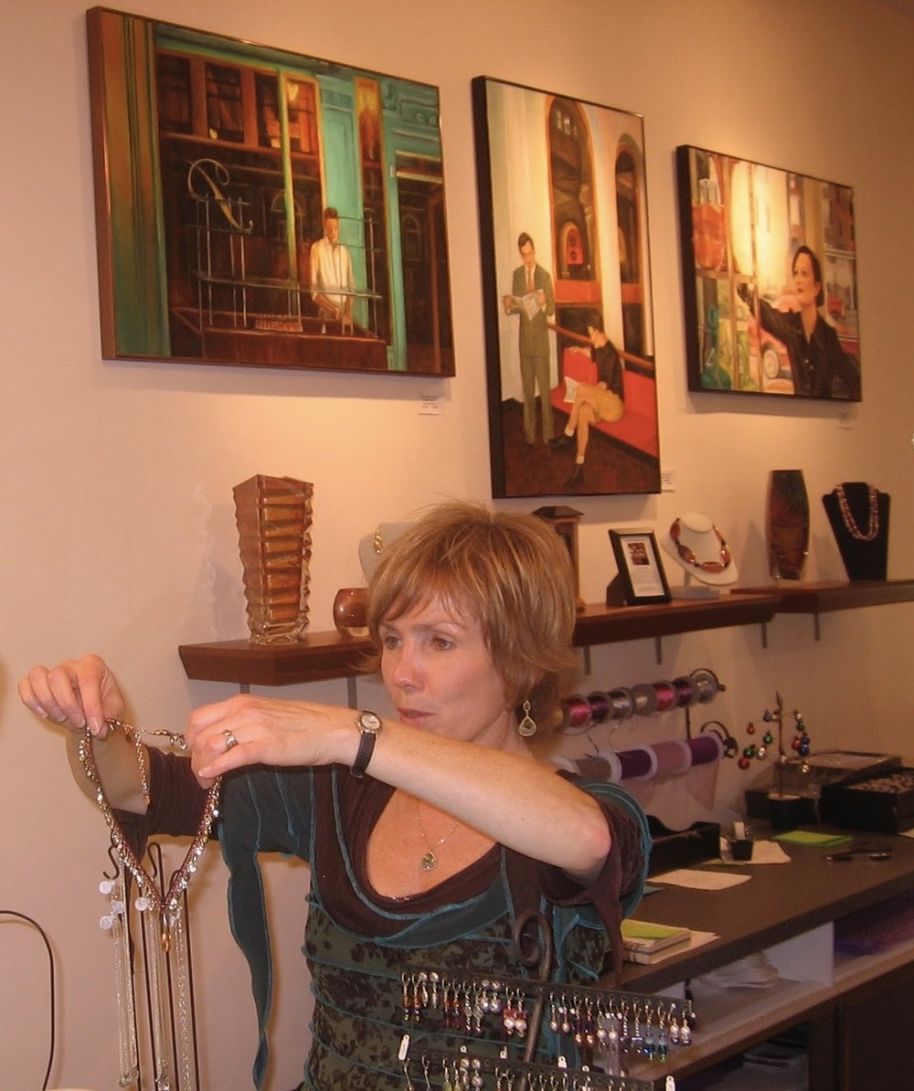 The Tenth Muse Gallery  MaplEWOOD, NJ   (Pictured: owner Mary Ann Spencer)   -