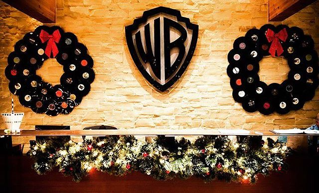 Warner Bros. Records is decorated for the holidays! Loving those record wreaths. Anyone else have festive music decor this season?