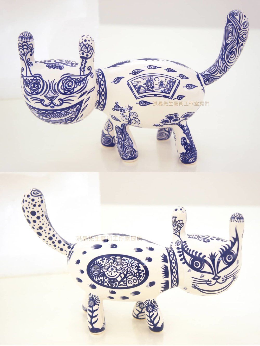 洪易 HUNG Yi〈小青花貓-日本雕刻之森特別版 Blue and White Cat-Special Edition for the Exhibition at Hakone Open-Air Museum, Japan〉