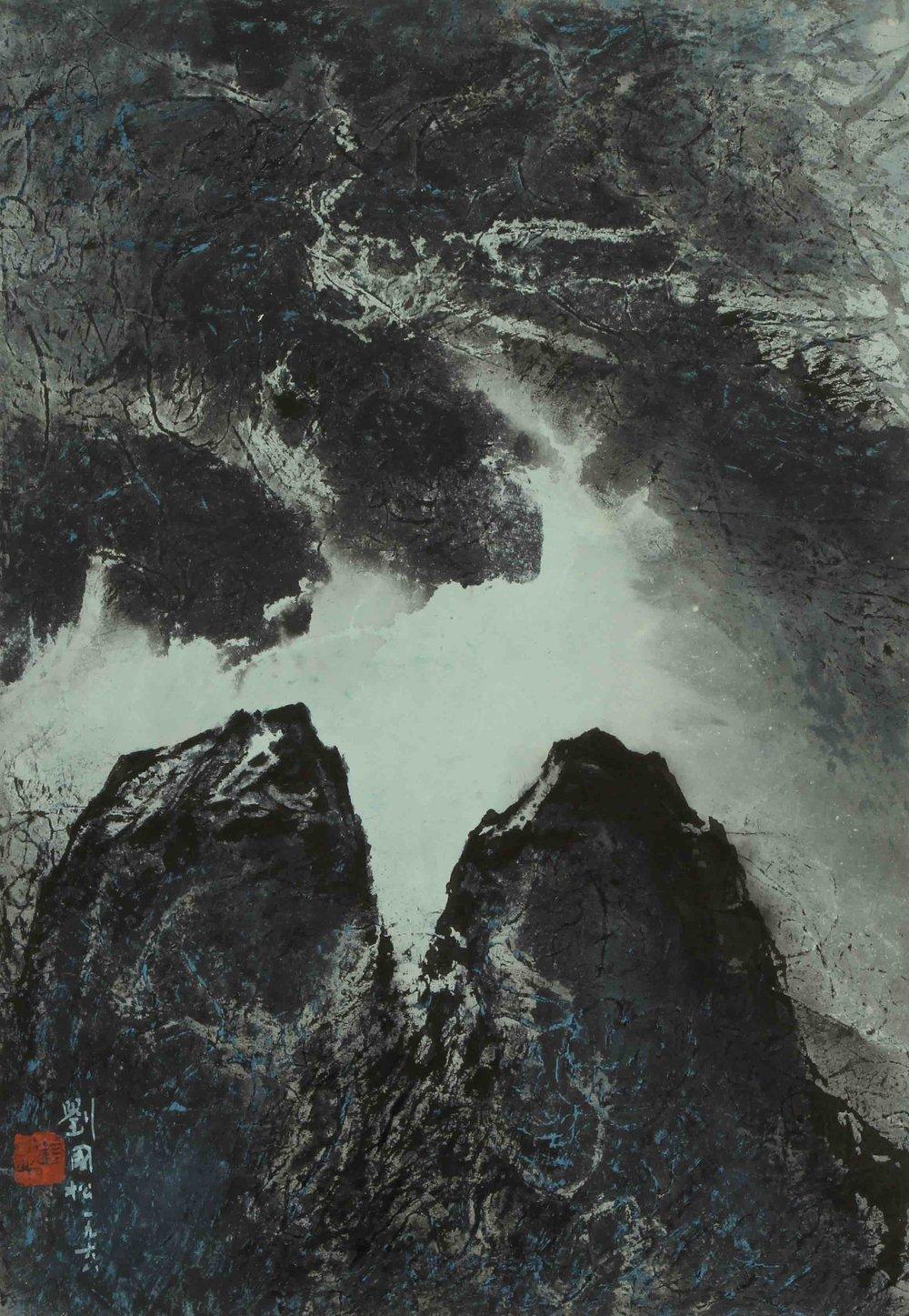 劉國松 LIU Kuo-Sung〈山崗之晨 Morning of the Hills〉
