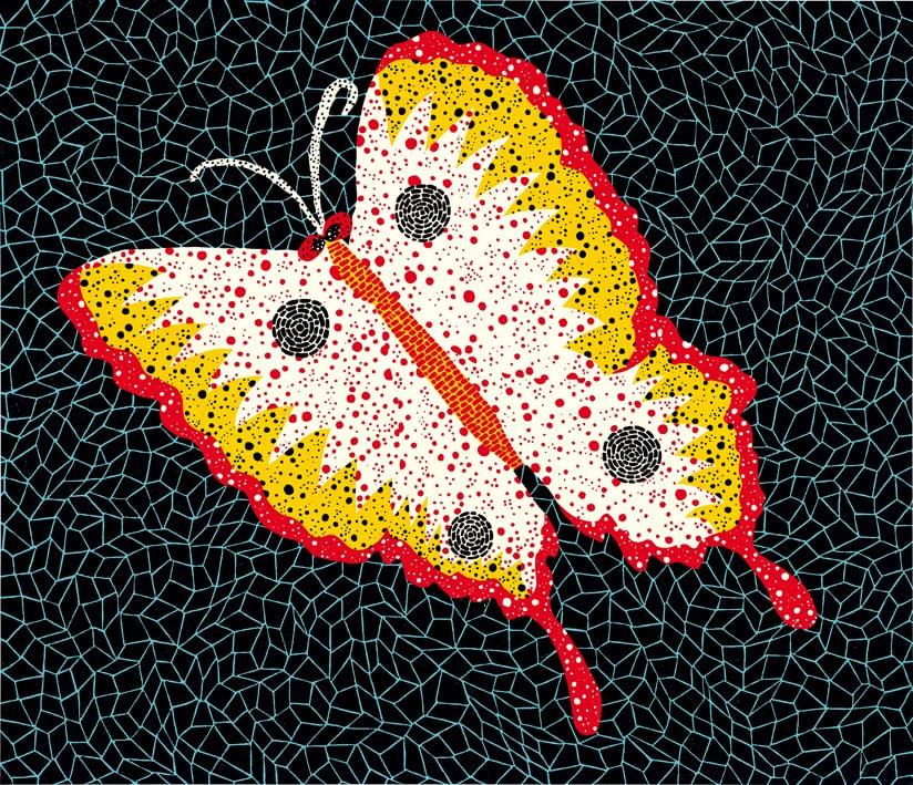 草間彌生 Yayoi KUSAMA〈No.81 蝴蝶 Butterfly〉