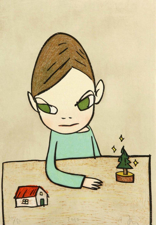奈良美智 Yoshitomo NARA〈討厭的聖誕節 Hateful Christmas〉