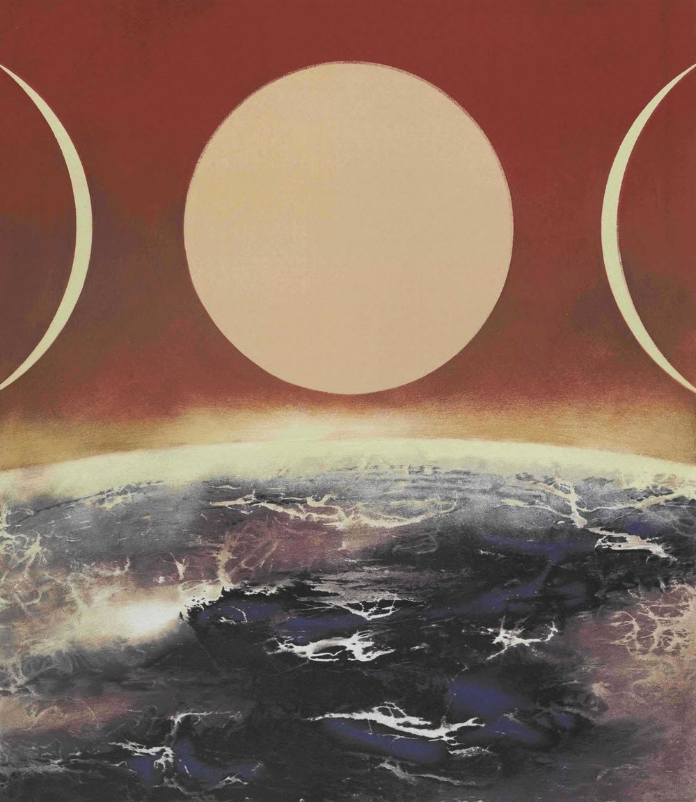 劉國松 LIU Kuo-Sung〈宇宙的構成 Formation of the Universe〉