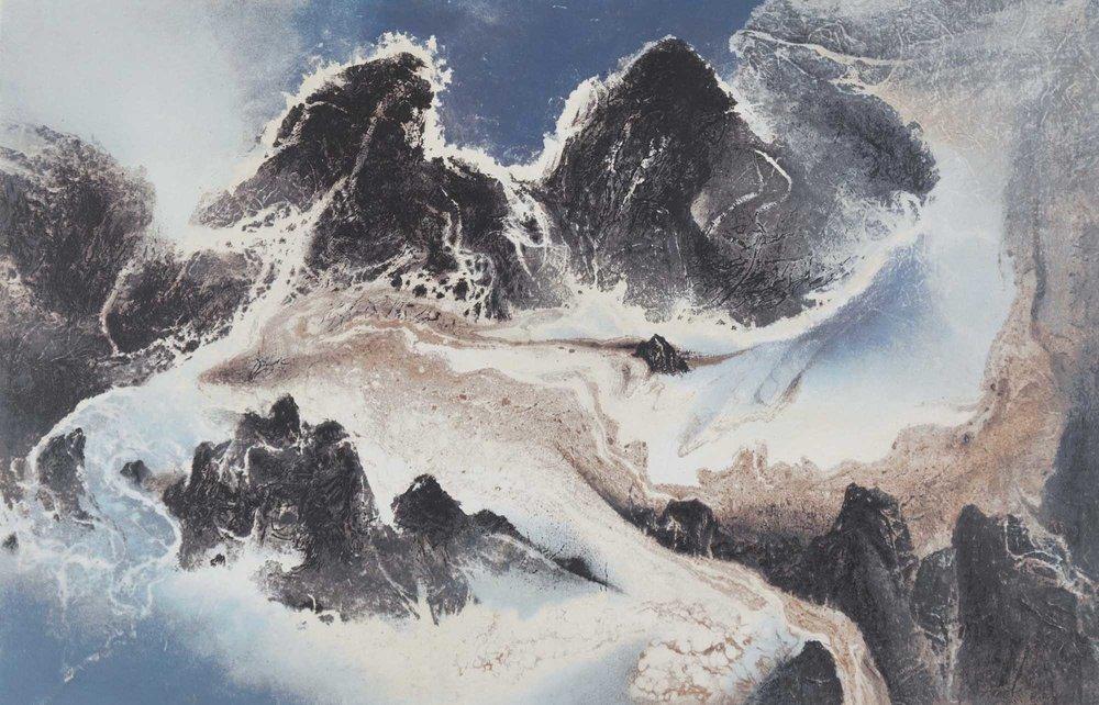 劉國松 LIU Kuo-Sung〈雲水一家 Water and Cloud Share the Same Source〉