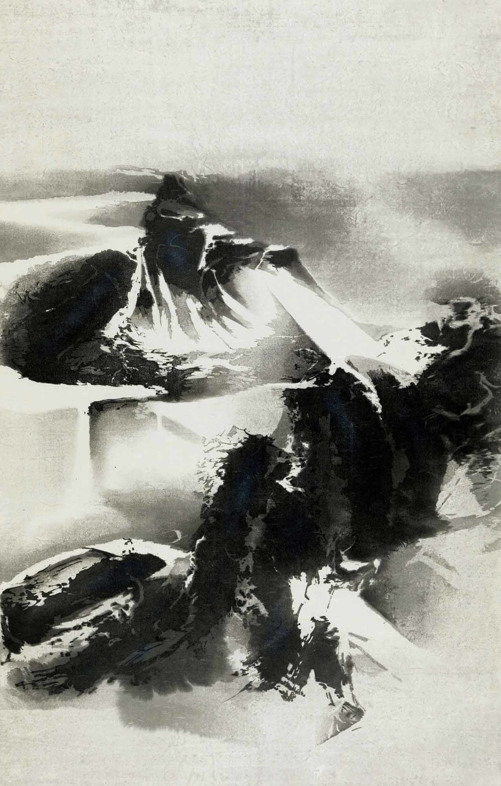 劉國松 LIU Kuo-Sung〈寒山雪霽 Wintery Mountains covered with Snow〉