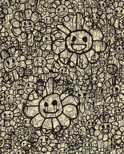 村上隆 Takashi Murakami〈Madsaki Flowers A Beige〉