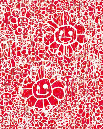 村上隆 Takashi Murakami〈Madsaki Flowers A Red〉