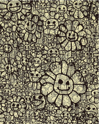 村上隆 Takashi Murakami〈Madsaki Flowers B Beige〉