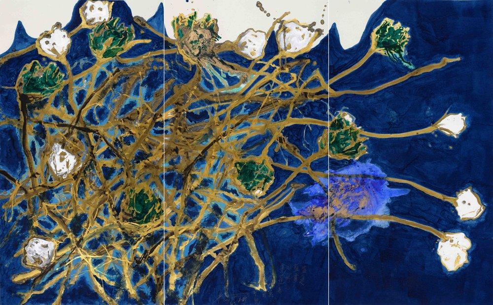 魏立剛 WEI Ligang〈盛夏藍潭綠荷白蓮蓬圖 A Blue Pond with Green Lotus and White Seed Pod in Midsummer〉