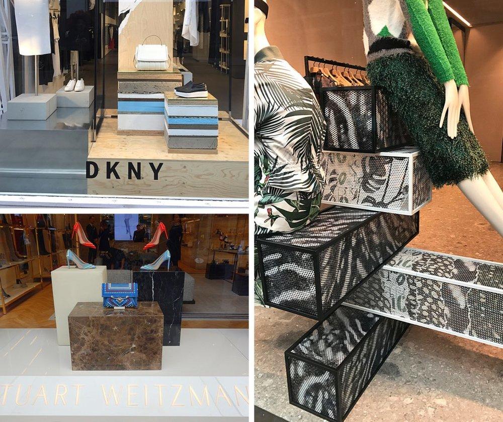 DKNY ,  Stuart Weitzman  &  Max Mara