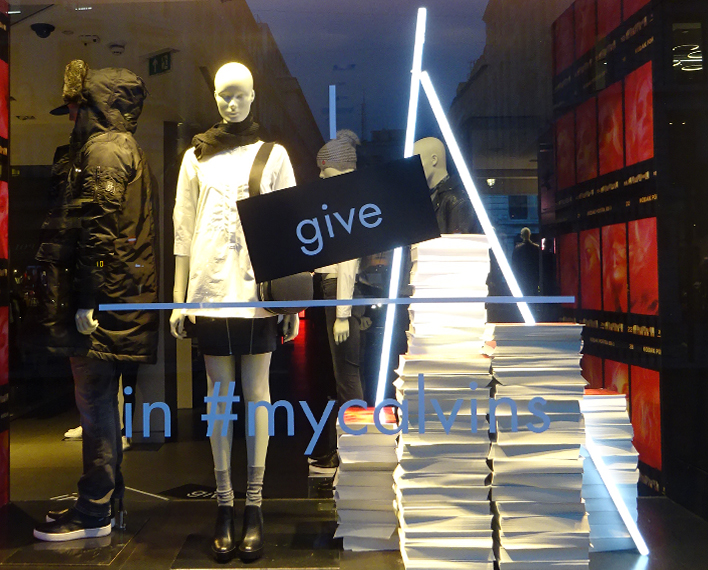 Calvin Klein Christmas Window