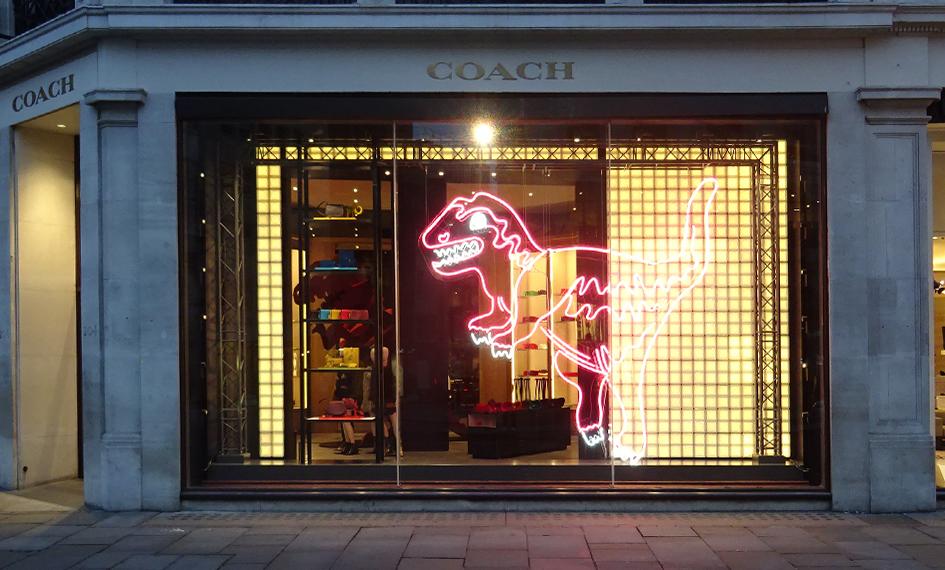 Coach Christmas Window
