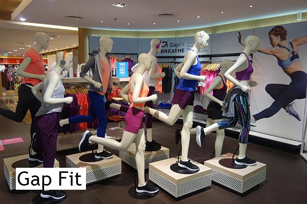 Gap Fit mannequins