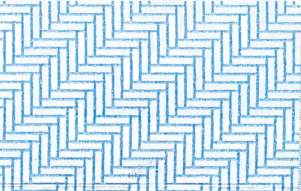 envelope security patterns blue and white herringbone