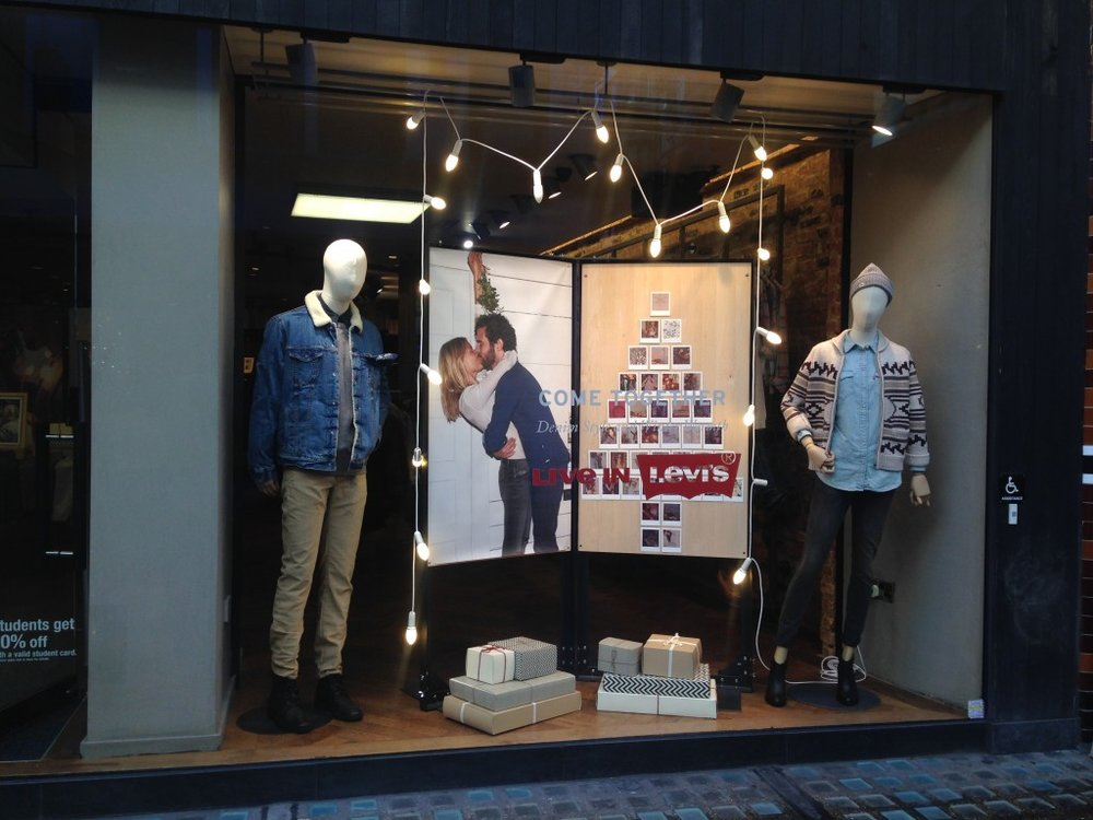 Levis Christmas Window